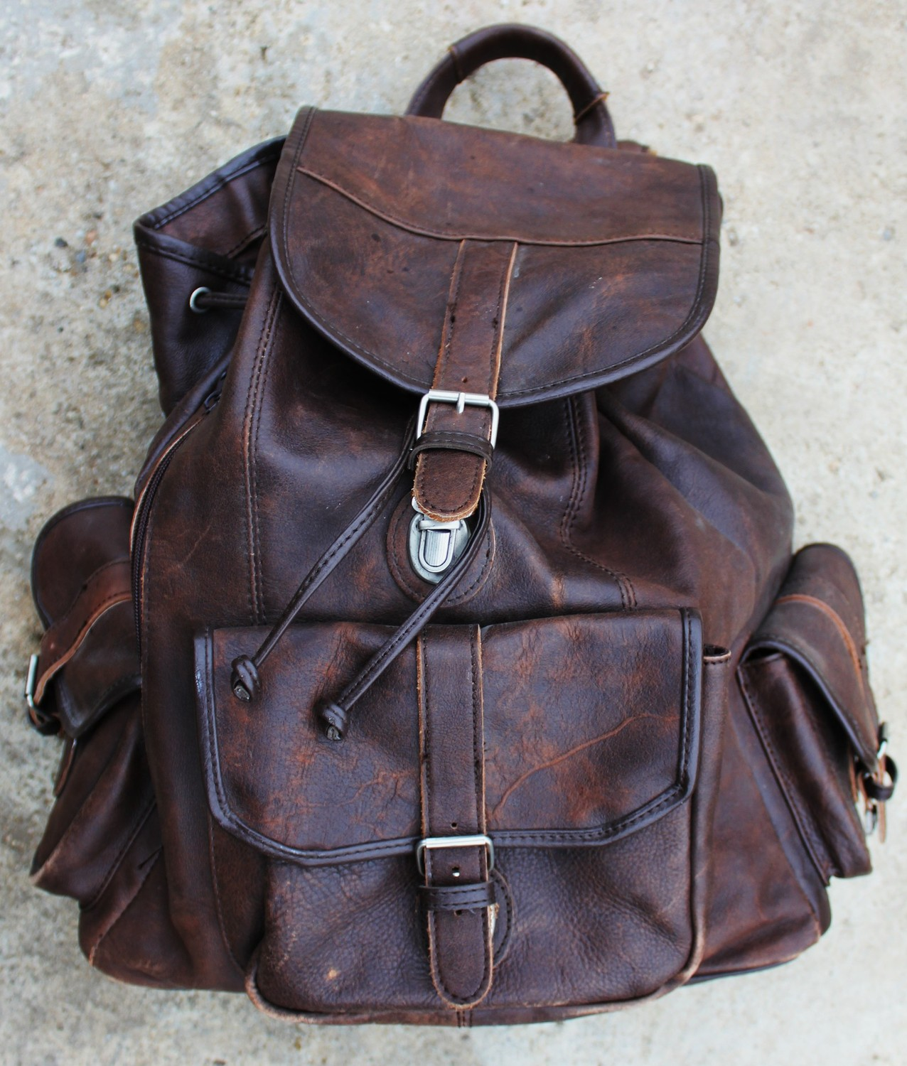 Leather Vintage Backpack NtkzphwB