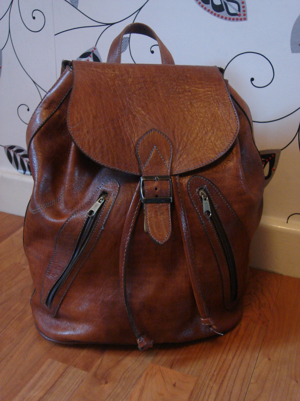 Leather Vintage Backpack tbmOnWnu