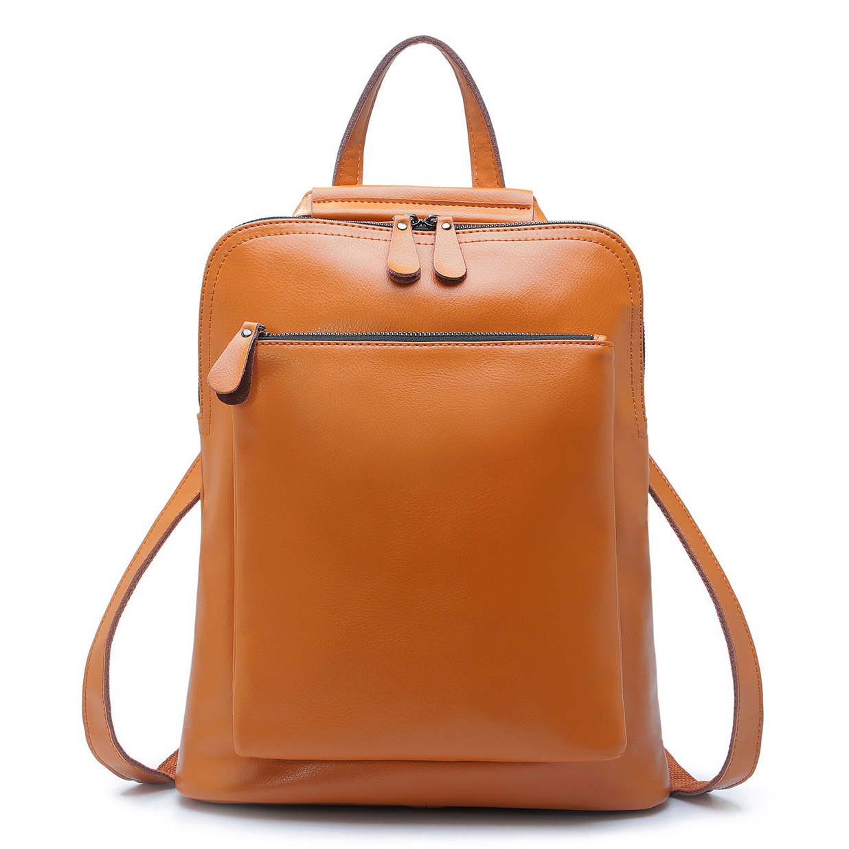 Leather Women Backpack tDibuobh