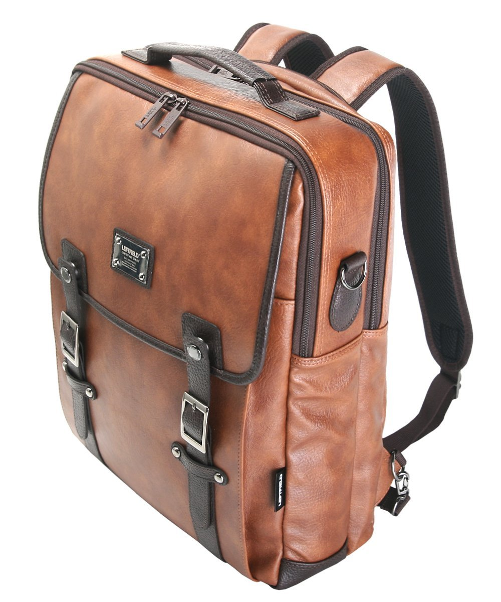 Mens Leather Laptop Backpack 3bzItWPX