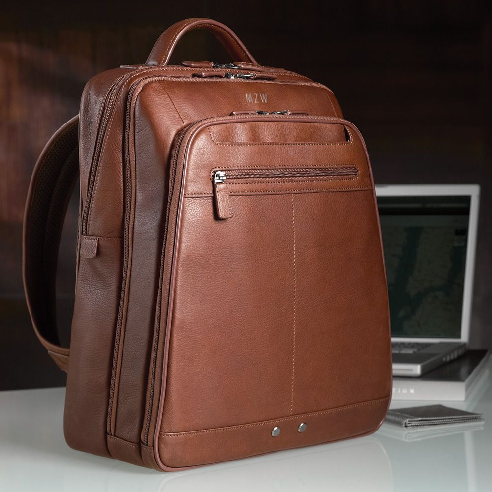 Mens Leather Laptop Backpack EB0mX0PN