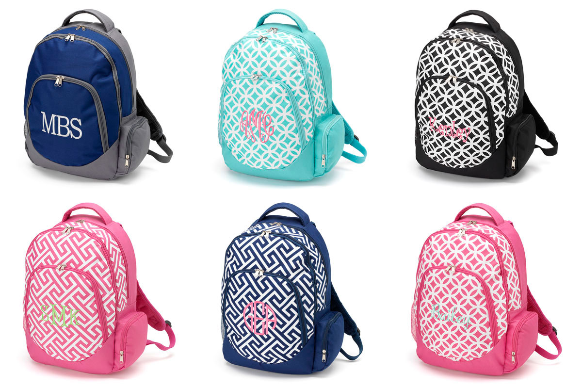 Monogrammed Backpacks For Girls tWACDBzZ