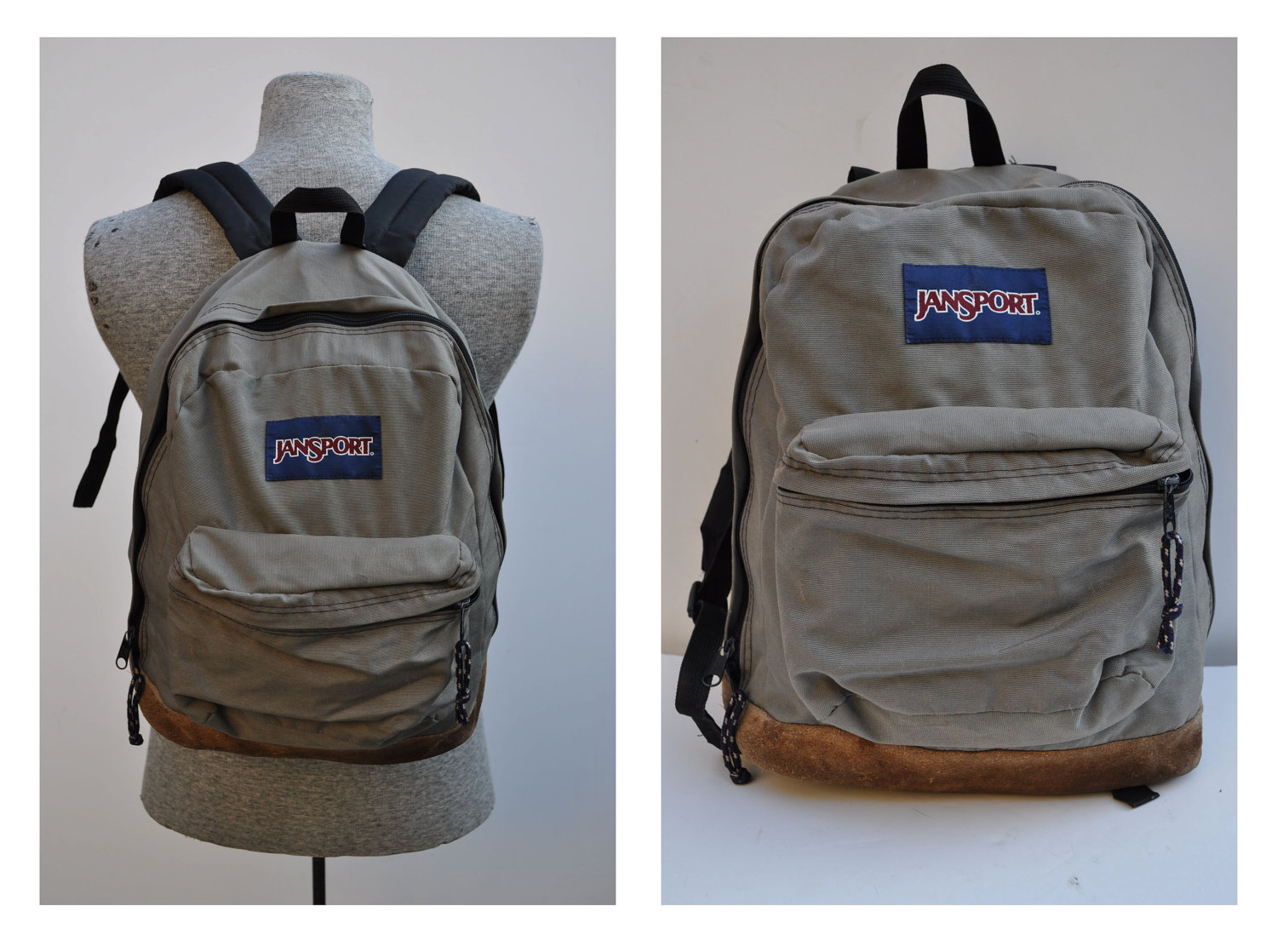 meet de4ad 50f7d Black Backpack With Brown Leather Bottom