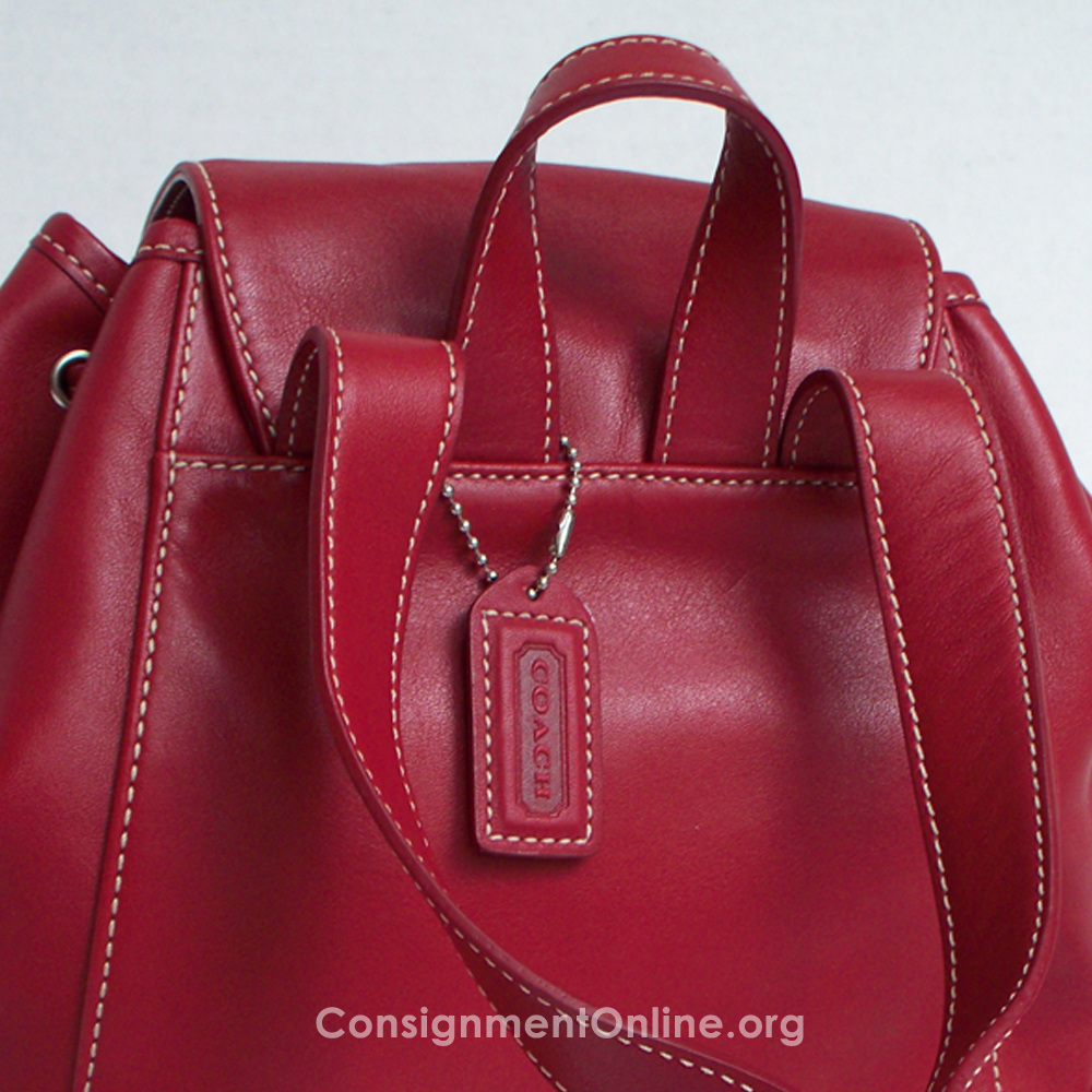 b9c53b2c1 Red Leather Backpack Purse - Backpakc Fam