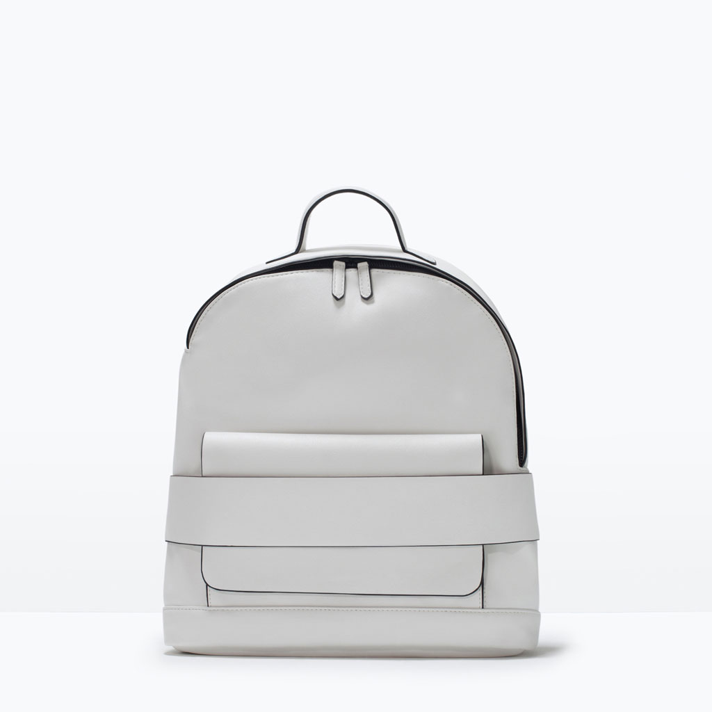 Excellent White Leather Backpacks - Backpakc Fam XG51